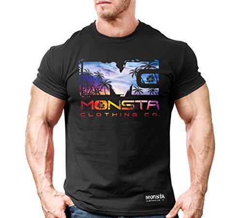 Monsta Clothing Co. Men's MC-Icon-Sunset_(MTEE228BK) T-shirt 3XL Black