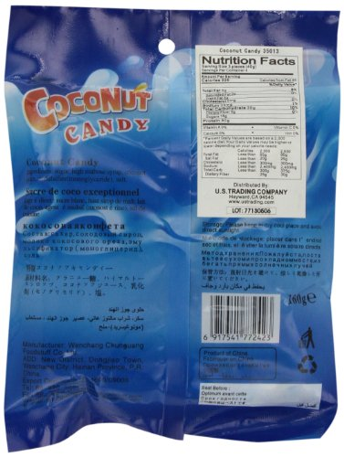 Chun Guang Coconut Candy, 5.6 Ounce tropicana cold press coconut oil 100