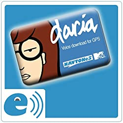 Daria Voice Download Card for Garmin GPS