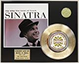 "Frank Sinatra Laser Etched With the the Lyrics to""My Way"" Limited Edition Gold Record Display"