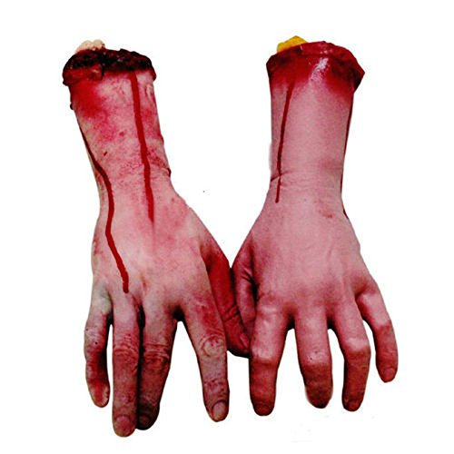 [Bloody Horror Scary Halloween Prop Fake Severed Lifesize Arm Hand Haunted New] (Home Made Video Game Costumes)
