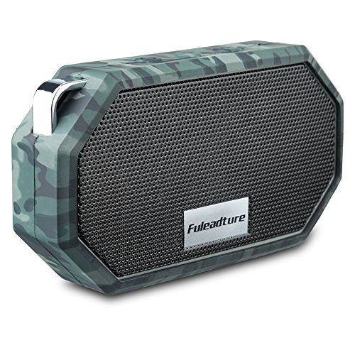 Portable Bluetooth Speakers, Fuleadture Wireless CSR 4.0 Bluetooth IP66 Waterproof Mini Outdoor & Shower Speaker with Mic for iPhone, Samsung, iPad, PC and All Audio Devices – Camouflage