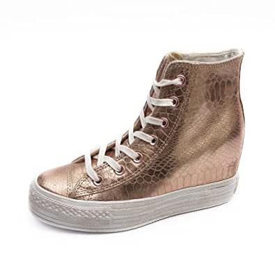 converse womens platform metallic rose gold white sneakers 10 us shoes. Black Bedroom Furniture Sets. Home Design Ideas