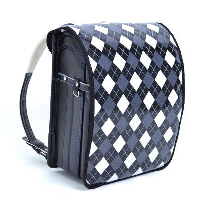 Japanese School Backpack Randoseru Cover Argyle Black Japan Made