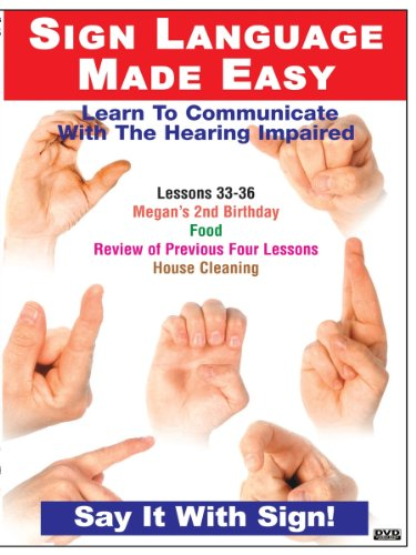 Sign Language Series Lessons 33-36: Birthdays, Food Cleaning