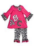 Rare Editions Girls ABC Zebra Leggings set