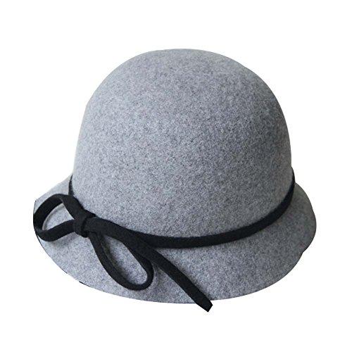 lgant-petit-bowknot-Billycock-laine-chapeau-melon-chapeau-en-feutre-laine-cloche-gris