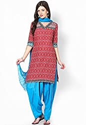 Soundarya Ethnicwear Cotton Free Size Patiala Salwar with Dupatta for Women (PAT2)