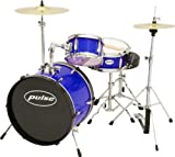Pulse 3-Piece Deluxe Junior Drum Set Metallic Blue