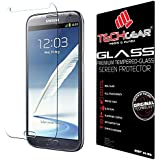 TECHGEAR� Samsung Galaxy Note 2 (N7100 / N7105) GLASS Edition Genuine Tempered Glass Screen Protector Guard Cover (Galaxy Note 2)