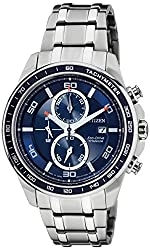Citizen Eco-Drive Analog Blue Dial Mens Watch - CA0346-59L