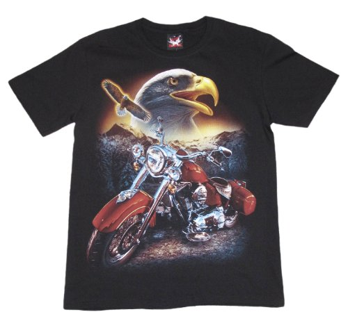Shirtland - Motorcycle Amercian Eagle Biker T-Shirt (M)