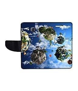 KolorEdge Printed Flip Cover For Samsung Galaxy On5 Multicolor - (1478-50KeMLogo09889SamOn5)
