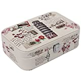 UberLyfe Single Level Vintage Style Jewellery Box with Illustrious Italy Design _ All Size (JB-000394-VNITALY_01)