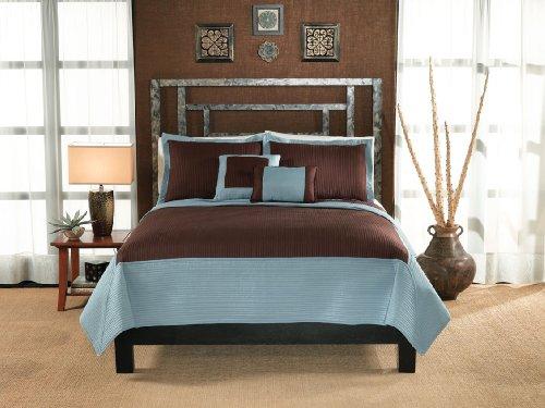 Lifestyles, Barclay Collection, colcha para cama de matrimonio, marrón