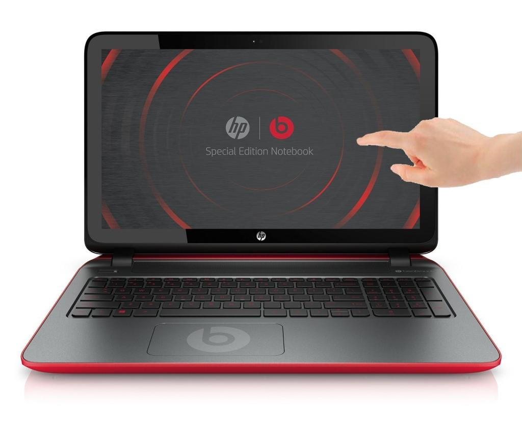 hp pavilion beats special edition 15 p011nf pc portable tactile 15 6 rouge argent amd a8 4 go. Black Bedroom Furniture Sets. Home Design Ideas