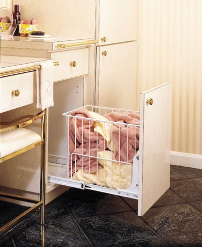 Rev A Shelf Rshrv.1215 S 11-.88 In. W X 14-.75 In. H Rev-A-Shelf Wire Pull-Out Hamper - White