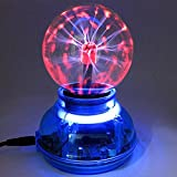 3 Inches Plasma Ball Sphere Ball Lightning Light Magic Desktop Kids Child Party Decorative Plasma Ball Lamp Light [Touch Sensitive] Nebula Sphere Globe Novelty Toy-USB or Battery Powered