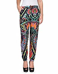 Kiosha Cotton Multi Regular Fit Trousers for Women KTVDA467_MULTI
