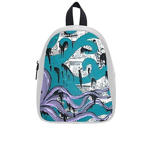 Smiling You Custom Waterproof Art Octopus School Bag Backpack(Large)