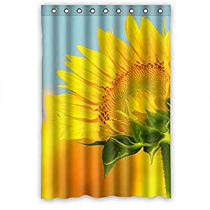 Momo Bright Yellow Sunflowers Shower Curtain