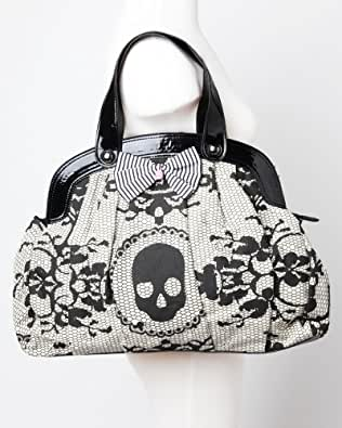 Iron Fist Ivory Lacey Days Skull Vegan Handbag