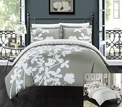 perfect home 3 piece sweetpea reversible large scale floral