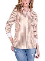 SIR RAYMOND TAILOR Shirt Pata (BLANCO-MARRON)