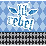 1st Birthday Party Boy: First Rebel Printed Plastic Tablecover  1ct