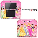 Princess Friends Pink Jasmine Cinderalla Snow White Decorative Video Game Decal Cover Skin Protector for Nintendo 2Ds