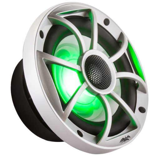 "Wet Sounds Xs-65I Series 6.5"" Silver Cone Marine Coaxial Speaker - With Rgb Led Lights!"
