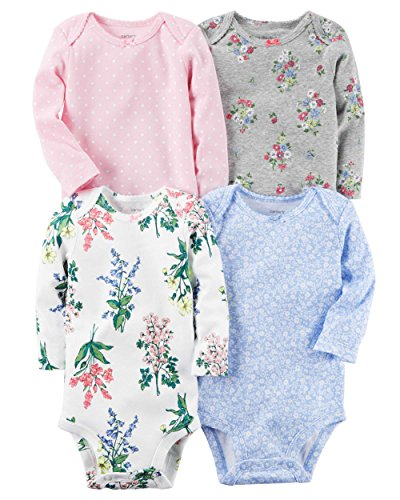 Carter's Baby Girls Multi-Pk Bodysuits 126g599, Floral, 6-9 Months Baby