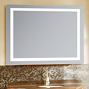 Led Lighted 24 X 36 Wall Mount Vanity Bathroom Mirror With Defogger Fog Free