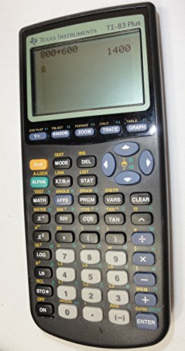 Texas Instruments TI-83 Plus Programmable Graphing Calculator (Packaging and Colors May Vary) (Math Calculator Ti 83 compare prices)