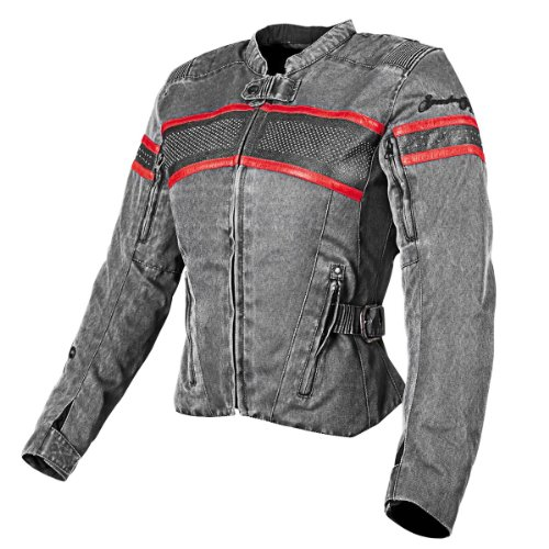 Speed and Strength American Beauty Women's Motorcycle Textile/Leather Jacket (Vintage Black, Small) 0