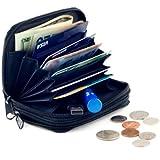 Goson Genuine Leather Credit Card Case Organizer Compact Wallet