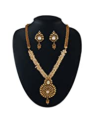Nerve Racking Gold Plated Kundan Set