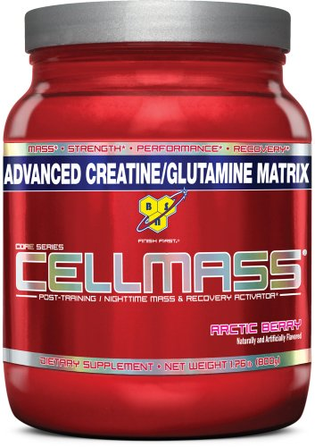 BSN Cellmass Creatine Post-Training NightTime Mass and Recovery Activator, Arctic Berry, 1.76 Pound