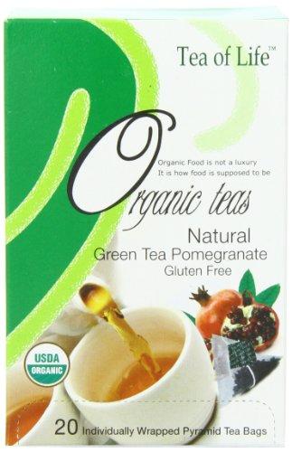 Tea Of Life Organic Green Tea, Pomegranate, 20 Count