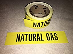 Roll of Natural Gas Pipe Marker, 72 Labels in a roll, With liner, Self adhesive stickers you peel and stick, 9\