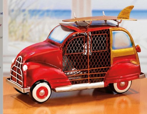 Decorative Table Fan - Woody Car Design - Handcrafted Steel