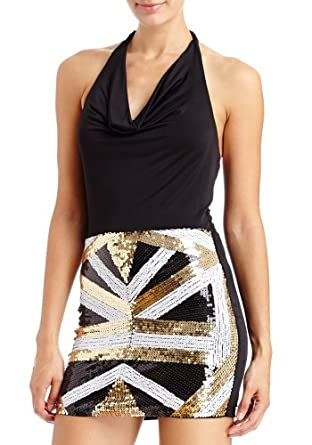 2B Sienna Cowl Halter Dress 2b Night Dresses Black Combo-xl