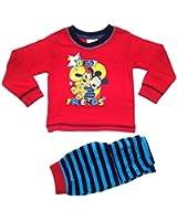 Baby Boys Pyjamas Kids Toddlers Disney Mickey Mouse Pjs Set Size UK 6-24 Months