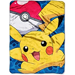 Pokemon Pikachu Go-Coperta in tessuto Micro Raschel, 46in x 60in)