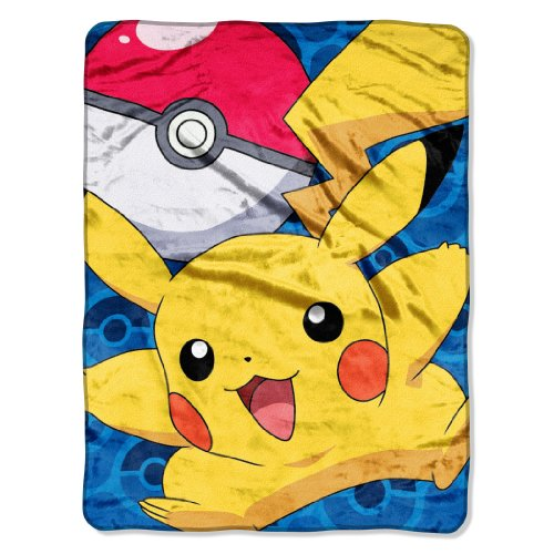 Purchase The Northwest Company Pokémon Go Pikachu Micro Raschel Blanket, 46 by 60-Inch