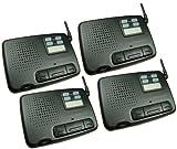 4-station Digital 4-channel FM Wireless Intercom for Home Office Shop