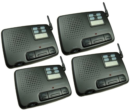 4-Station Digital 4-Channel Fm Wireless Intercom For Home Office Shop