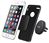 Car Mount, TechMatte MagGrip Air Vent Magnetic Universal Car Mount Holder for Smartphones including iPhone 6, 6S, Galaxy S7, S6 Edge, OnePlus 3- Black
