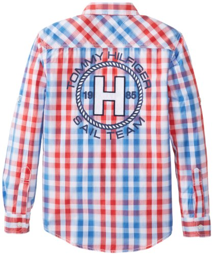 Tommy Hilfiger  Long Sleeve Cruz  男童衬衣 8岁以上美国亚马逊