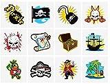 De colores Pirata Tatuajes, 24 suministro